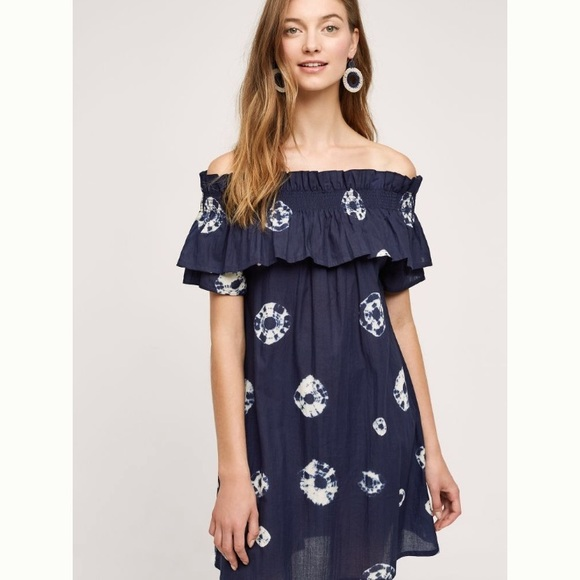 78754c2bcb215 Anthropologie Dresses | Rare Nwt Whit Two Shibori Dress | Poshmark